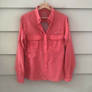 Silver Bait VENTED Long SLEEVE BUTTON DOWN SHIRT S